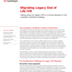 Migrating Legacy End of Life IVR