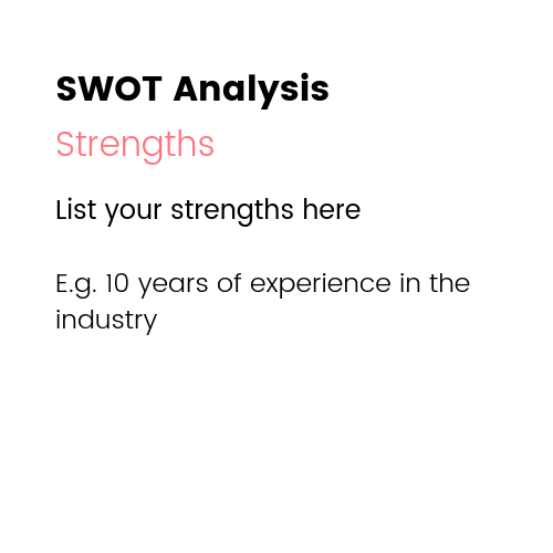 Small Business Marketing Ideas - SWOT Analysis Strengths