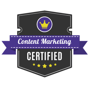 freelance writer saas certified content marketing badge