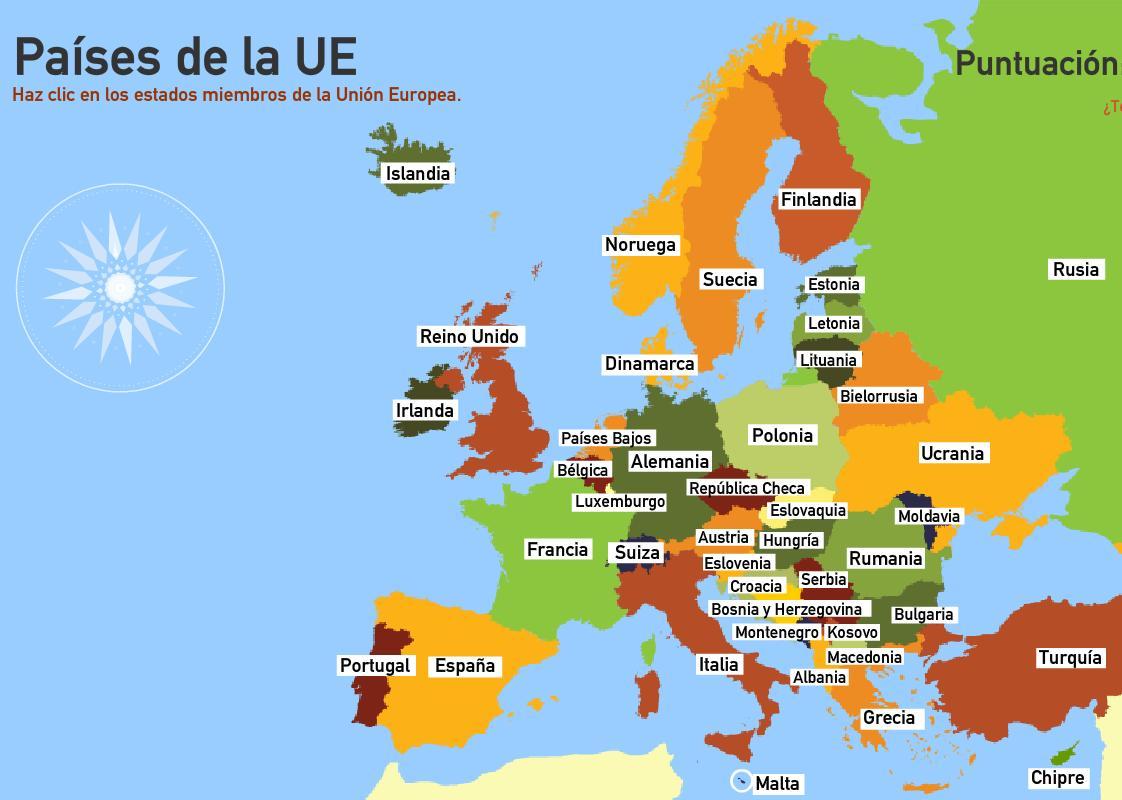 Europa Mapa Paises