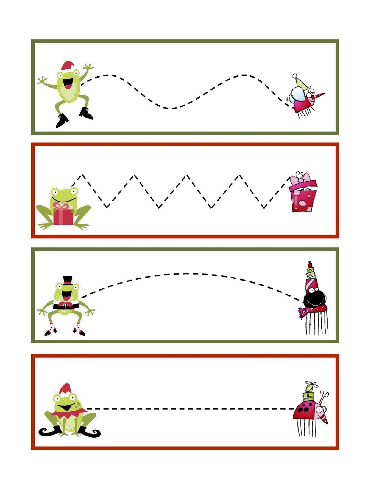 Actividades Para Trabajar La Grafomoticidad En Navidad