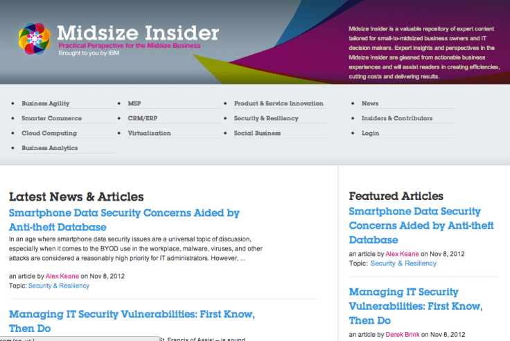Online content publishing IBM