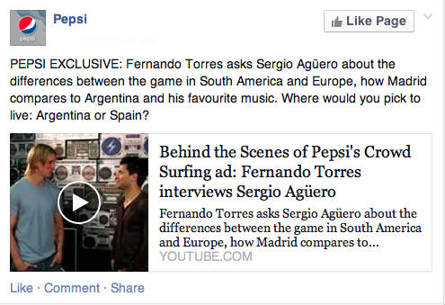 facebook example-pepsi exclusive