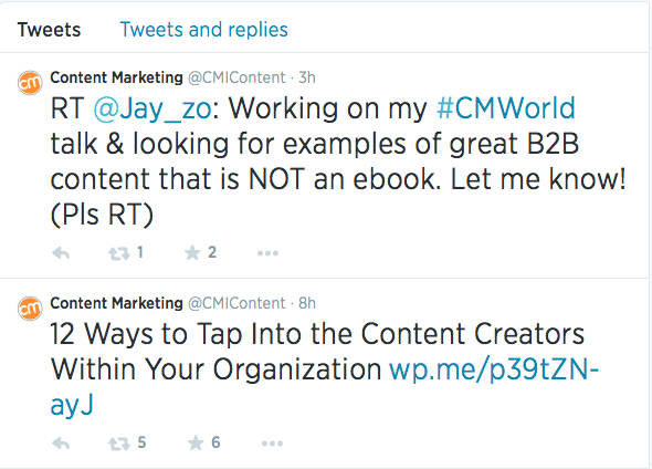 examples-CMI tweets