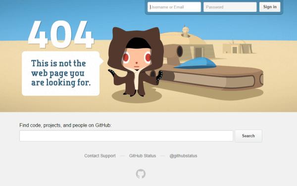 Error page-GitHub