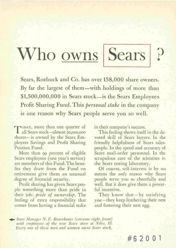 Rhetorical Questions - Sears example