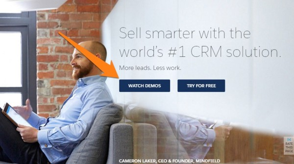 Salesforce CTA example