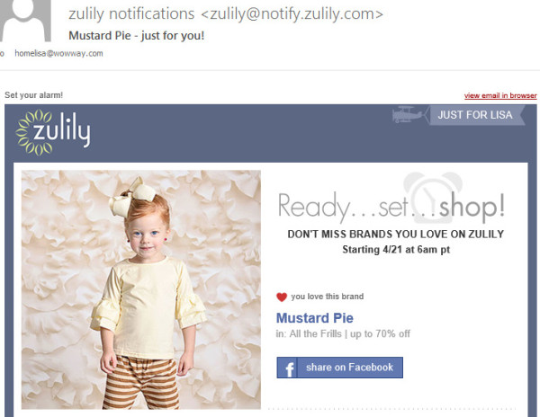 zulily-personalized-email-example