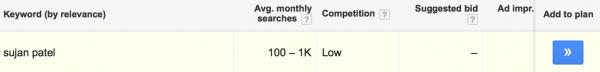 Keyword-results
