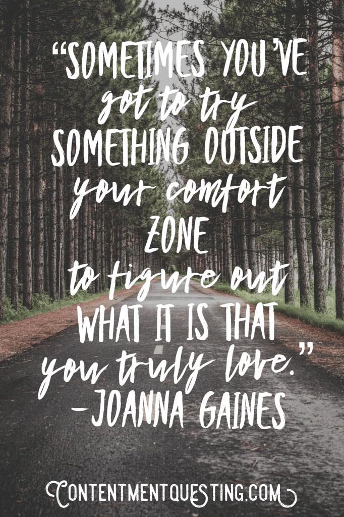 inspiration, quote, Joanna Gaines, comfort, love, motivation
