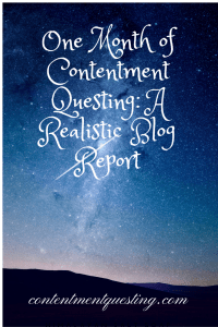 blog report, blogging, one month