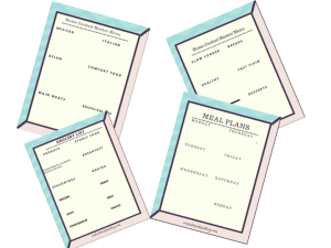 meal planning printables freebie