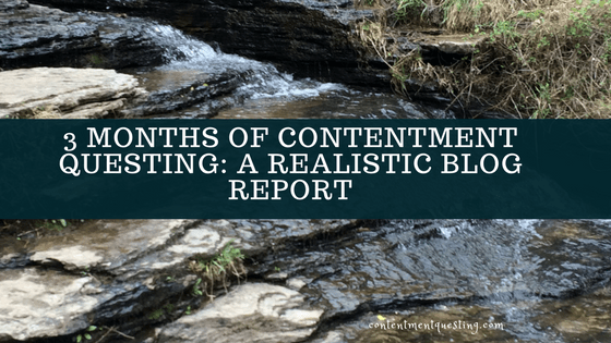4 months, contentment questing, blog, report, blogging