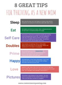 Printable, triving, new mom, new baby, advice