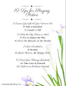 stay postive printable picture