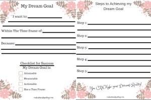follow your dreams, pursue your dreams, inspiration, printable worksheet, checklist
