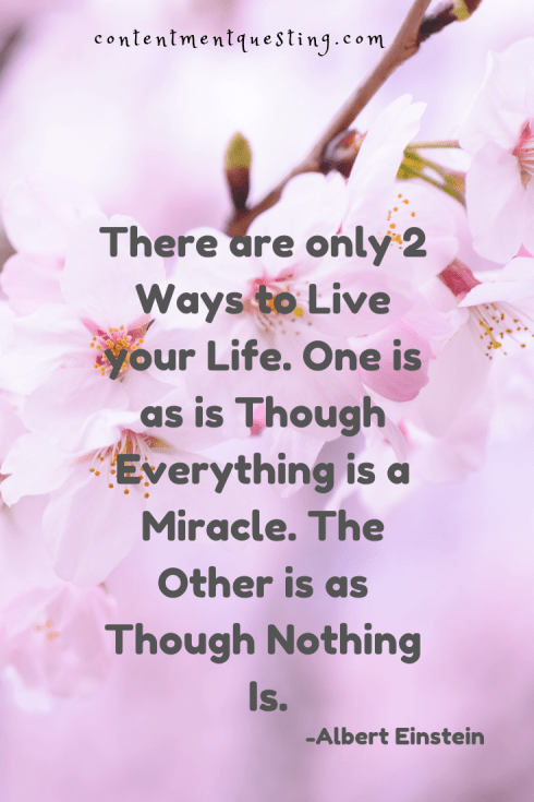 Albert Einstein Quote Dont Wait For Miracles Your Whole Life Is
