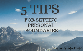 setting personal boundaries, boundaries, limits, emotional boundaries, mental health, contentment questing