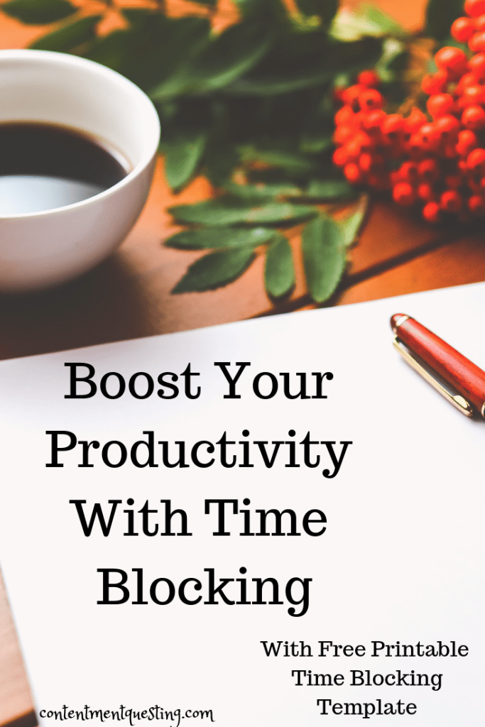 Try time blocking to get more done in less time.Free simple time blocking template to boost your productivity and help you get more done in less time. #timeblocking #timeblockingtemplate #productivity #getmoredoneinlesstime #productivityboost #contentmentquesting