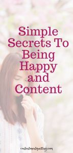 secrets to being happy and content pin 4