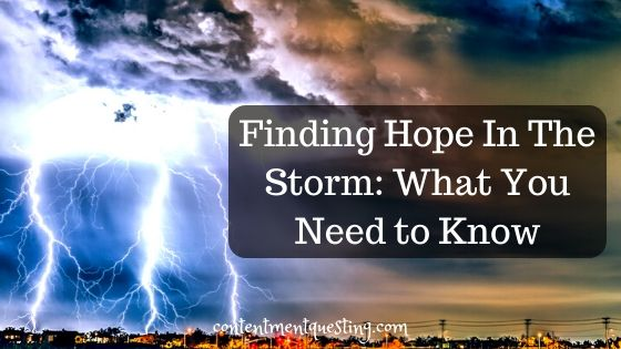 Find hope in the storm blog banner