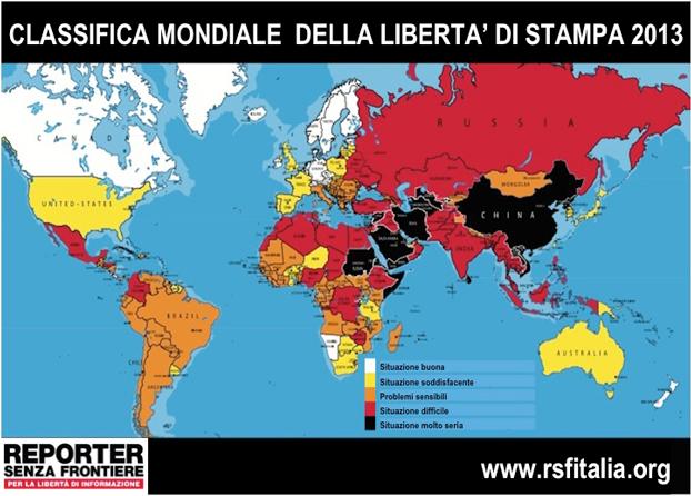 Classifica mondiale della libertà di stampa 2013