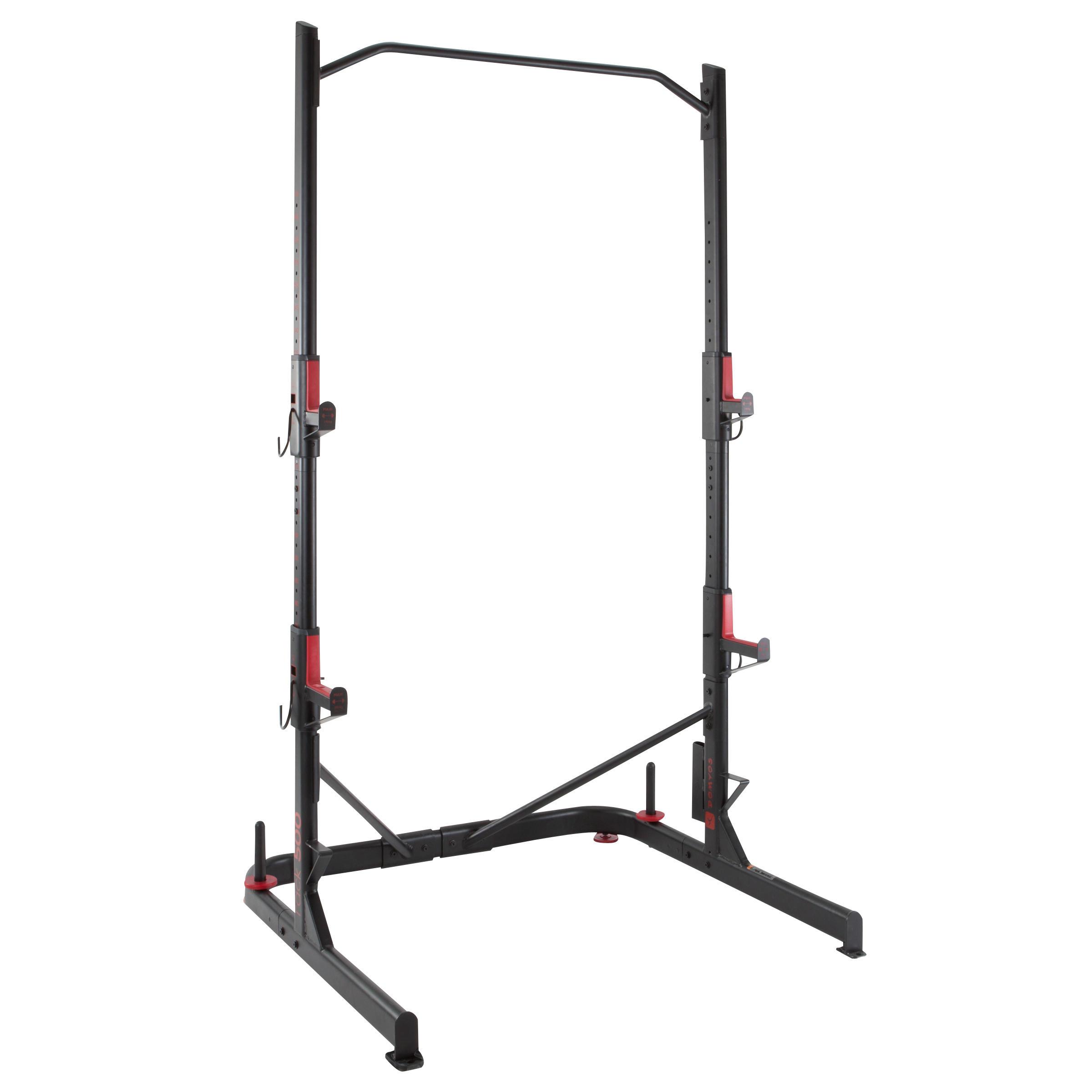 weight training rack squats chin ups