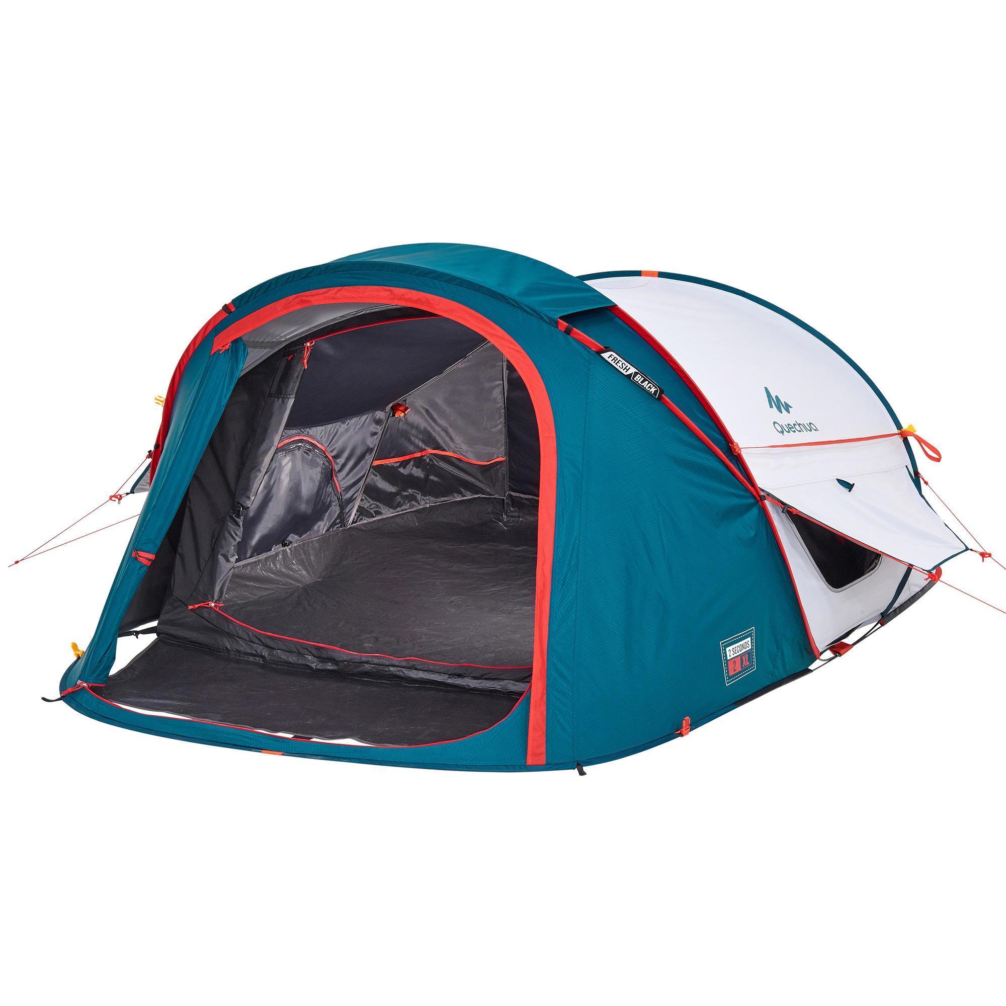 tente de camping 2 seconds xl fresh black 2 personnes