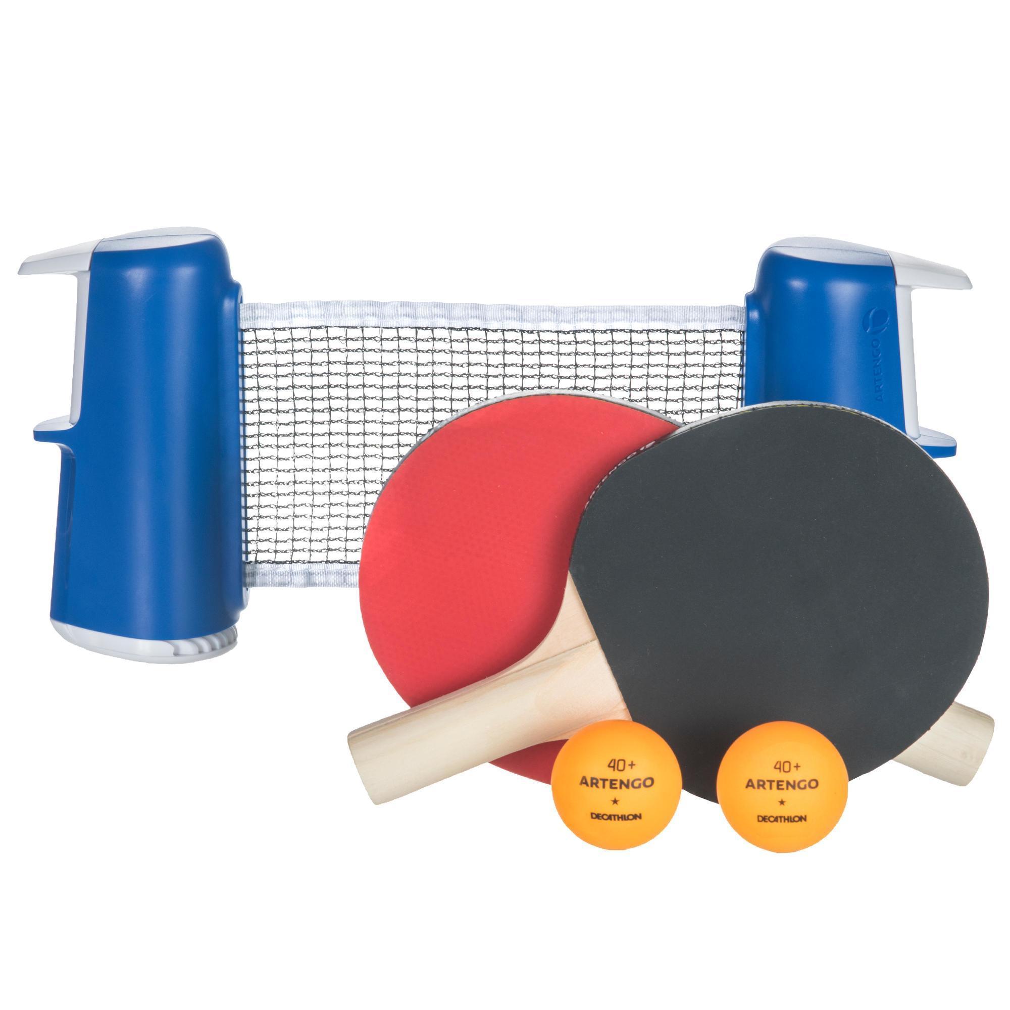 tischtennis set rollnet small 2 schlager 2 balle