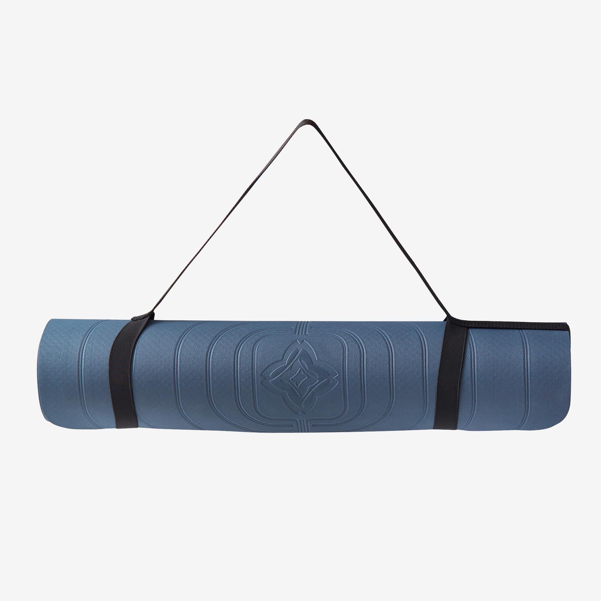 tapis yoga doux club 5 mm bleu