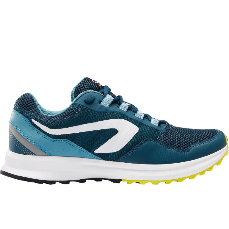Kalenji Run Active Grip Mens Running Shoes Green / Blue