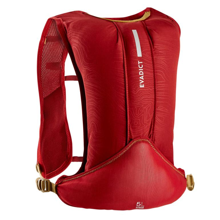 Trail Running 5L Hydration Backpack Burgundy Red