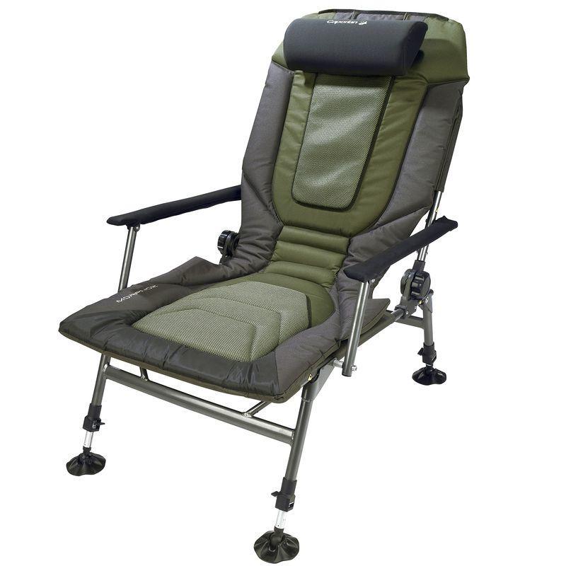 fishing chair with headrest drive steel transport parts morphoz carp levelchair caperlan