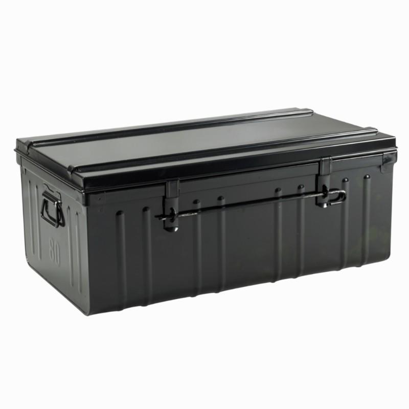 malle de rangement metal noir cantine 95 l