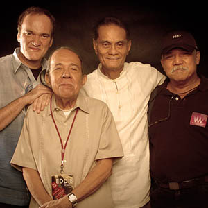 Image of director Quentin Tarantino with his admired directors