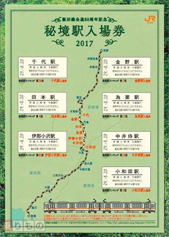 畫像ギャラリー | 飯田線の「秘境駅入場券」7枚セットが発売 ...