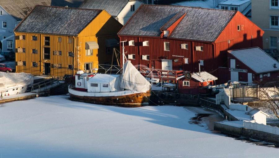 Sjøbodene på vinteren