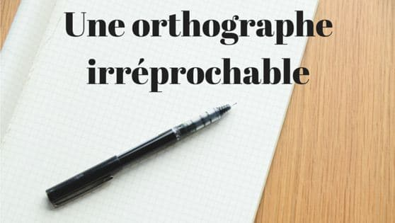 rédaction web orthographe