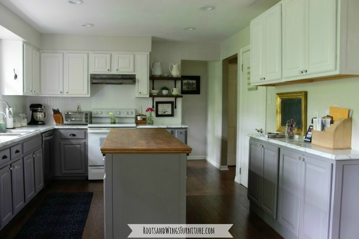 Kitchen Makeover with Tuxedo Cabinets  General Finishes