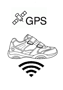 GPS shoes with wireless charging.