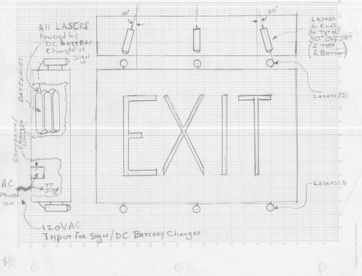 Directional Emergency Exit Sign