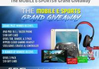 The MOBILE E-SPORTS Grand Giveaway – Stand Chance To Win iPad Pro 10.5 Or Razer Phone, $100 Gift Card, G FUEL Tub, Shaker, & 3 Pack, Gaming Headset, XL Controller