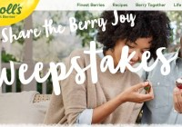 Berries Driscoll's Share The Berry Joy Sweepstakes - Enter To Win Driscoll's Berries for a Year package A $260 Visa Pre-Paid Card