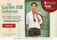 Travel & Leisure The Garnet Hill Sweepstakes - Stand To Win $500 Garnet Hill Gift Card