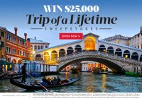 Food And Wine Trip of a Lifetime Sweepstakes - Enter To Win A $25000 check