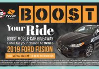 Boost Your Ride and Win A Ford Fusion Sweepstakes - Chance To Win A Ford Fusion