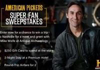 History Channel American Pickers Super Fan Sweepstakes