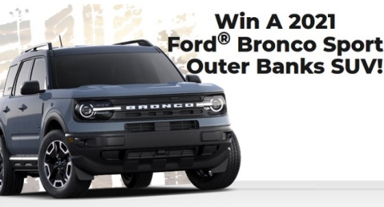 PCH.com 2021 Ford Bronco Sweepstakes - Chance To Win A New SUV