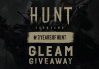 Crytek 3 Years Of Hunt Showdown Anniversary Giveaway