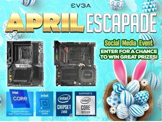 EVGA April Escapade Social Media Event Giveaway